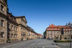 Historisk gammal stad av Bayreuth - Jean Paul Platz Fotografering för Bildbyråer