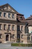 Historisk gammal stad av Bayreuth - Jean Paul Platz Arkivbilder