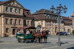 Historisk gammal stad av Bayreuth - Jean Paul Platz Royaltyfria Foton