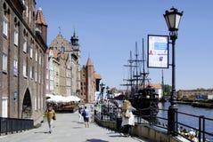 Historisk gammal stad av Gdansk i Polen Royaltyfria Bilder
