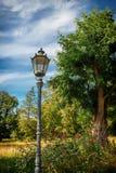 Historisk gatalampa i en parkera Royaltyfria Bilder