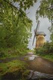 Historisk gränsmärke England för Bidston väderkvarn royaltyfri fotografi