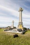 Historisk grav av Flora MacDonald på Skye i Skottland Arkivfoto