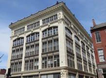 Historisk Hager byggnad, i stadens centrum Lancaster, PA royaltyfri foto