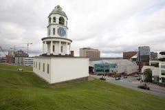 Historisk Halifax stadklocka på citadellkullen Arkivfoton