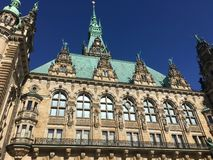 Historisk Hamburg stad Hall Courtyard arkivbilder