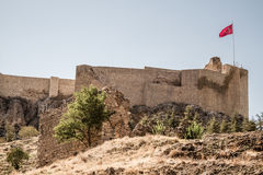 Historisk Harput slott i Elazig, Turkiet Royaltyfria Foton