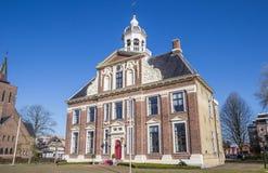 Historisk herrgård Crackstate i mitten av Heerenveen Arkivfoton
