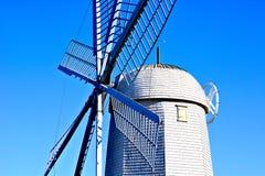 Historisk holländsk väderkvarnCloseup Arkivfoto