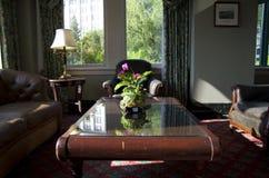 Historisk hotelllobby Fotografering för Bildbyråer