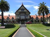 historisk husrotorua för bad Royaltyfri Bild