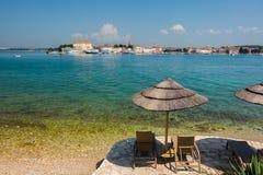 Historisk Istrian stad av Porec, Kroatien royaltyfria foton