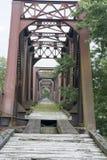 Historisk järnvägbro Marietta Ohio fotografering för bildbyråer