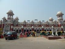 Historisk järnvägsstation Lucknow arkivfoto