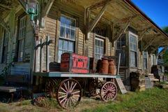 Historisk järnvägstation från Cummings, Maine Royaltyfri Foto
