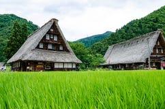 Historisk japansk by Fotografering för Bildbyråer