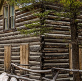 Historisk journalkabin i Colorado Royaltyfria Foton