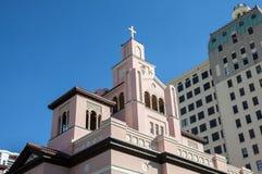 Historisk katolsk kyrka i Miami Royaltyfri Foto