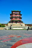 Historisk kinesisk byggnad - Tengwang paviljong Royaltyfria Bilder