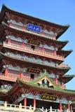 Historisk kinesisk byggnad - Tengwang paviljong Arkivfoton