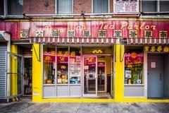 Historisk kineskvarter NYC Arkivfoto
