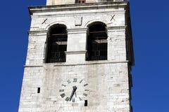 Historisk klocka i det höga Klocka tornet av AQUILEIA Royaltyfri Bild