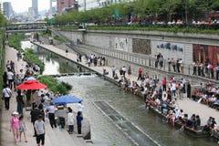 historisk korea flod seoul Fotografering för Bildbyråer