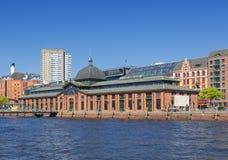 Historisk korridor för fiskauktion på Hamburg-Altona royaltyfri foto