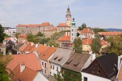 historisk krumlov för cesky stad Royaltyfria Bilder