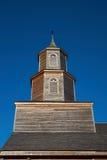 Historisk kyrka av Nercon på den Chiloé ön royaltyfria bilder