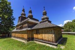 Historisk kyrka av St Nicholas i Bodruzal, Slovakien royaltyfria foton