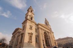 Historisk kyrka, basilika för St Stephen ` s i Budapest fotografering för bildbyråer