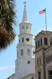 Historisk kyrka för vit Royaltyfri Foto