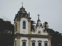 Historisk kyrka i Bahia Arkivfoton