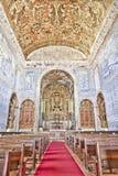 Historisk kyrka i Castro, Verde, Alentejo, Portugal Arkivfoto