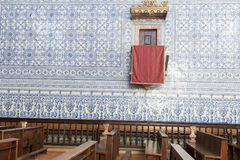 Historisk kyrka i Castro, Verde, Alentejo, Portugal Fotografering för Bildbyråer