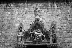 Historisk kyrka i Dubrovnik Arkivfoton