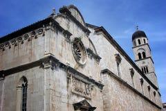 Historisk kyrka i Dubrovnik Arkivfoto
