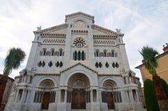 Historisk kyrka i Monaco Royaltyfria Bilder