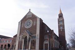 Historisk kyrka i Shorewood Wisconsin Royaltyfria Foton