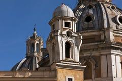 Historisk kyrka i staden av Rome Royaltyfria Bilder