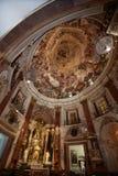 Historisk kyrka i Valencia arkivbild
