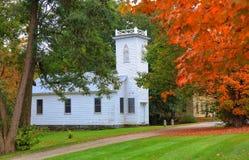 Historisk kyrka i Vermont fotografering för bildbyråer