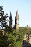 Historisk kyrklig byggnad i Aberdeen, Skottland Arkivbild