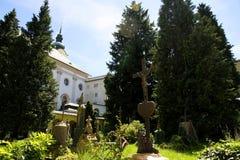 Historisk kyrkogård i Salzburg Royaltyfri Fotografi