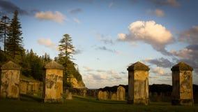 Historisk kyrkogårdNorfolk ö royaltyfri fotografi