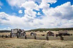 Historisk lantgård för Hornbeck hemmanColorado ranch royaltyfri bild