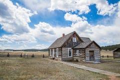 Historisk lantgård för Hornbeck hemmanColorado ranch arkivbilder