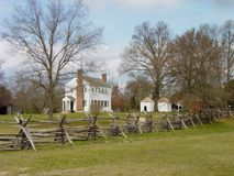 Historisk Latta koloni, North Carolina Arkivfoto