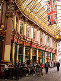 Historisk Leadenhall marknad i London Arkivfoto
